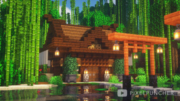 Small Japanese House Minecraft Map & Project