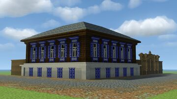Russian semi-stone house of the 19th century( Русский полукаменный дом 19 века) Minecraft Map & Project