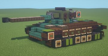 M26 Pershing (1.5:1 scale) Minecraft Map & Project