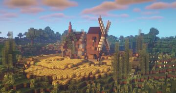 Small Survival Mill Home Minecraft Map & Project