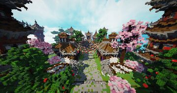 HCF Spawn + Road - Oriental Themed Minecraft Map & Project