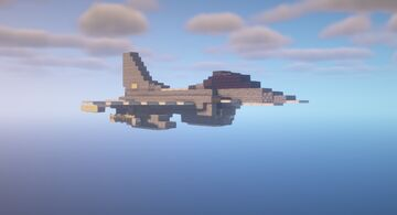 General Dynamics F-16C (Block 50) Fighting Falcon (1.5:1 scale) Minecraft Map & Project