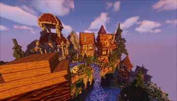 ⭐» SKYBLOCK SPAWN & PVP ARENA «⭐ | ENCHANTING AREA • GRINDER • CRATES • KOTH PLACES & more Minecraft Map & Project