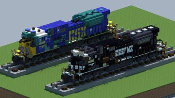 EMD SD80MAC Diesel locomotive [With Download] Minecraft Map & Project