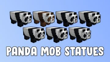 Panda Mob Statues Minecraft Map & Project