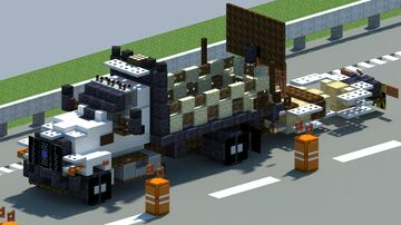 Ford F650. Crash Attenuator truck [With Download] Minecraft Map & Project
