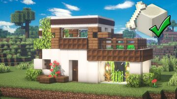 Minecraft | Bone House Idea | How to Build a Bone House Tutorial Minecraft Map & Project