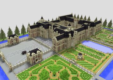 Louis XIII-style Château complete with French gardens and pavilion Minecraft Map & Project