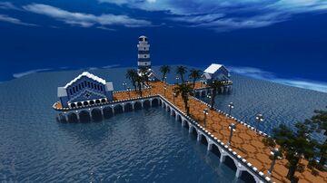 Ocean Bridge with under water Hotel (download) Minecraft Map & Project