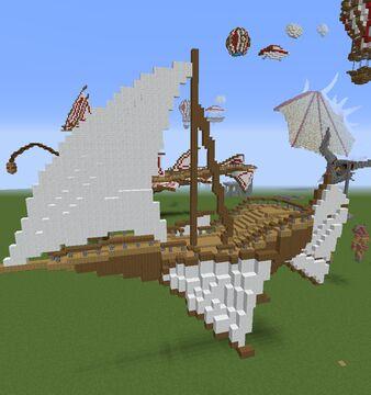 Bateau Volant Minecraft Map & Project
