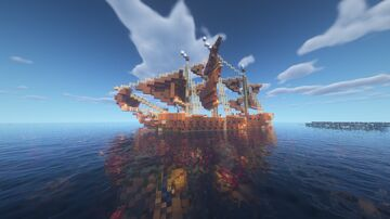 Frigate with working cannons (fire charge) Minecraft Map & Project