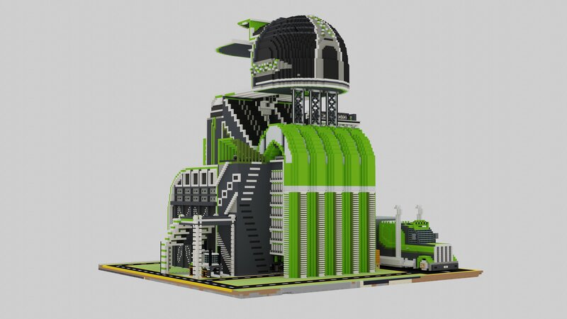 Ultra Modern Farming Complex render