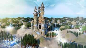 The castle for the NEMO guild on the kwadratowa.games server. The castle was built for the competition. Minecraft Map & Project