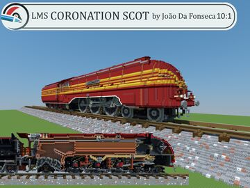 10:1 MASSIVE DETAILED LMS Coronation Scot Locomotive by Jf! Minecraft Map & Project