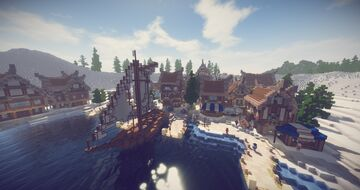 Winter Northern City Minecraft Map & Project