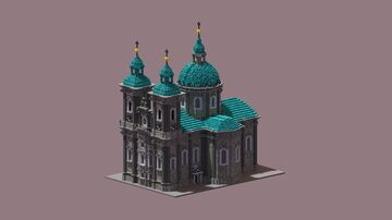 baroque church with a dome Minecraft Map & Project