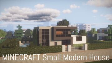 Small Modern House 6 (full interior) Minecraft Map & Project
