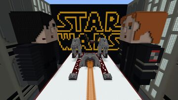 STAR WARS : The Battle Of Crait ( Hide & Seek + PVP) - Bedrock Minecraft Map & Project