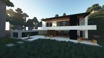 Modern Mansion 2 (Forest) - Modern House Minecraft Map & Project