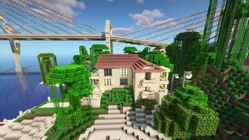 Roman house and villa near beach Minecraft Map & Project