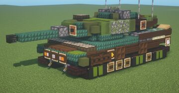 Strv. 122A (1.5:1 scale) Minecraft Map & Project