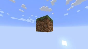 One Block Survival Island Minecraft Map & Project