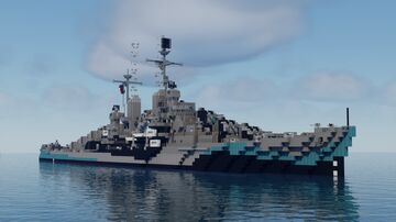 USS San Diego CL-53 Atlanta-class Cruiser Minecraft Map & Project