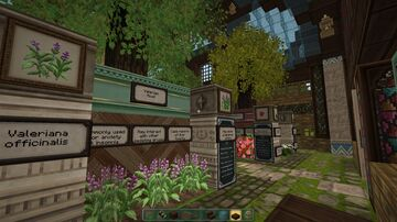 Herbal Greenhouse Exhibit Minecraft Map & Project