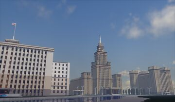 The city of Izransk, a completely fictional city of the mid-50s. Minecraft Map & Project