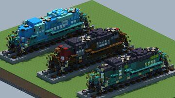 EMD GP9 Diesel locomotive [With Download] Minecraft Map & Project