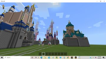 Disney Parks Castle Builds Minecraft Map & Project