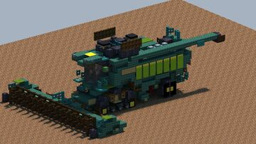 John Deere X9 1100 Harvester [With Download] Minecraft Map & Project