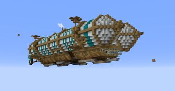 Small Cargo Air-Ship Minecraft Map & Project