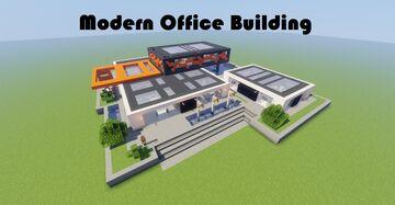 Modern Office Building {Java & Bedrock Edition} Minecraft Map & Project