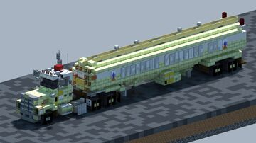 Chevrolet Bison, Fire Tanker [With Download] Minecraft Map & Project