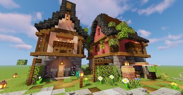Three Alsatian Houses Minecraft Map & Project