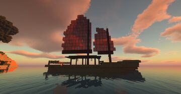 Japanese Junk Ship Minecraft Map & Project