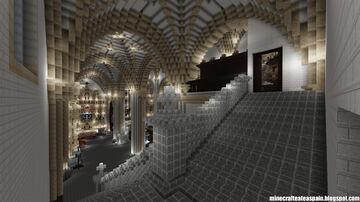 Minecraft replica of the Church of Villegas, Burgos, Spain. Minecraft Map & Project