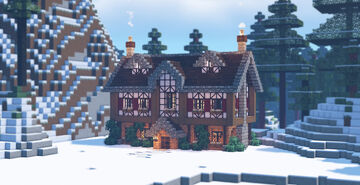 Cozy alpine cottage in the forest edge ☕️🌲 Minecraft Map & Project