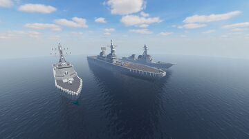 Sejong The Great Class Aegis Destroyers + Dokdo Class LPH Minecraft Map & Project