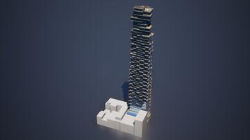 Jenga Tower (Skyscraper), New York City | 1:1 Recreation Minecraft Map & Project