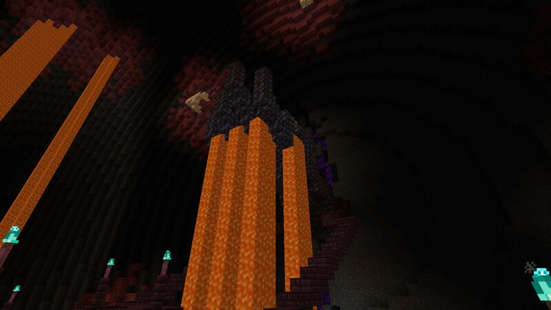 You can walk up to this lava hand!