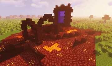 Temple Ancient Nether Portal Minecraft Map & Project