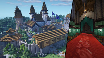 Ultimate Survival Castle Base Minecraft Map & Project