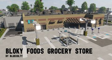 Bloky Foods Grocery Store - Greenfield Project Minecraft Map & Project