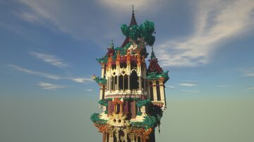 Gothic-Oriental Tower Minecraft Map & Project