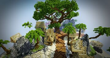 HCF Spawn + Road - Summer Theme Minecraft Map & Project