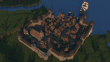Adenport | A Medieval Town Minecraft Map & Project