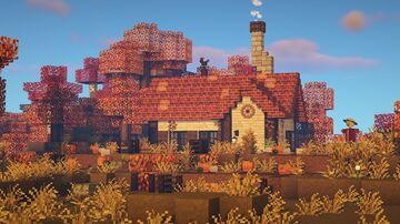 🎃 cozy pumpkin cottage Minecraft Map & Project