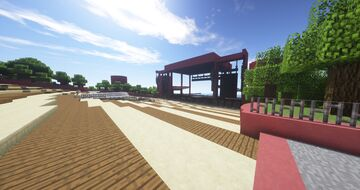 Red Rocks Inspired Amphitheatre Minecraft Map & Project